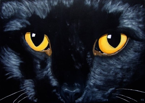 Paint Black Cats In Acrylic