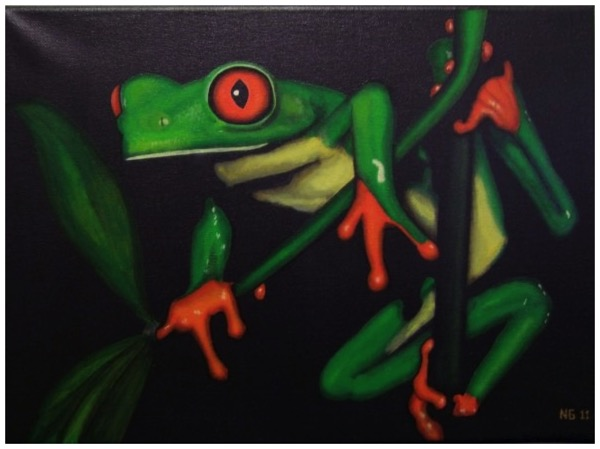 Acrylic Painting - Frog