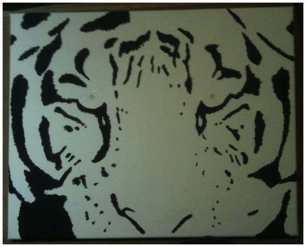 Acrylic Painting - Tiger 1 of 3