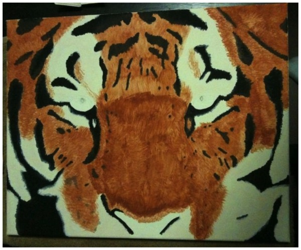 Acrylic Painting - Tiger 2 of 3