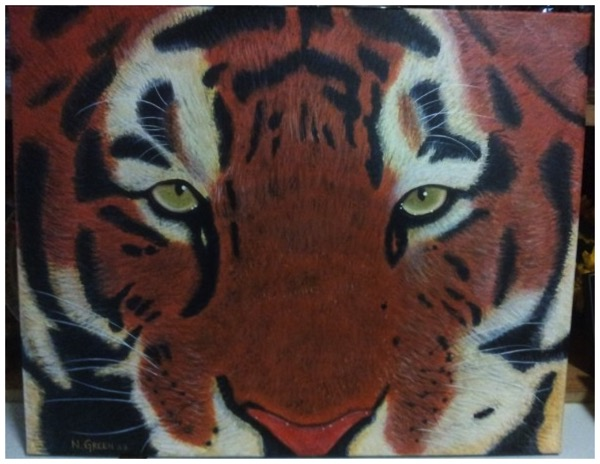 Acrylic Painting - Tiger 3 of 3