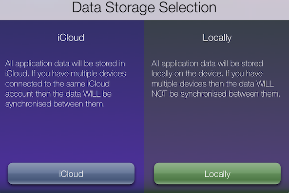 Data Storage Selection